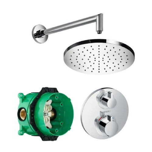 Abacus Temptation Thermostatic Concealed Shower Kit With Round Shower Head